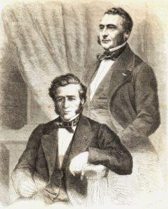 Los hermanos Émile (1800-1875) e Isaac (1806-1880) Péreire, fundadores del francés Crédit Mobiliere (1852) y de su filial la Sociedad General de Crédito Mobiliario Español (1856).