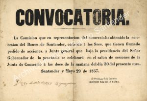 Primera convocatoria a junta general de accionistas del Banco de Santander