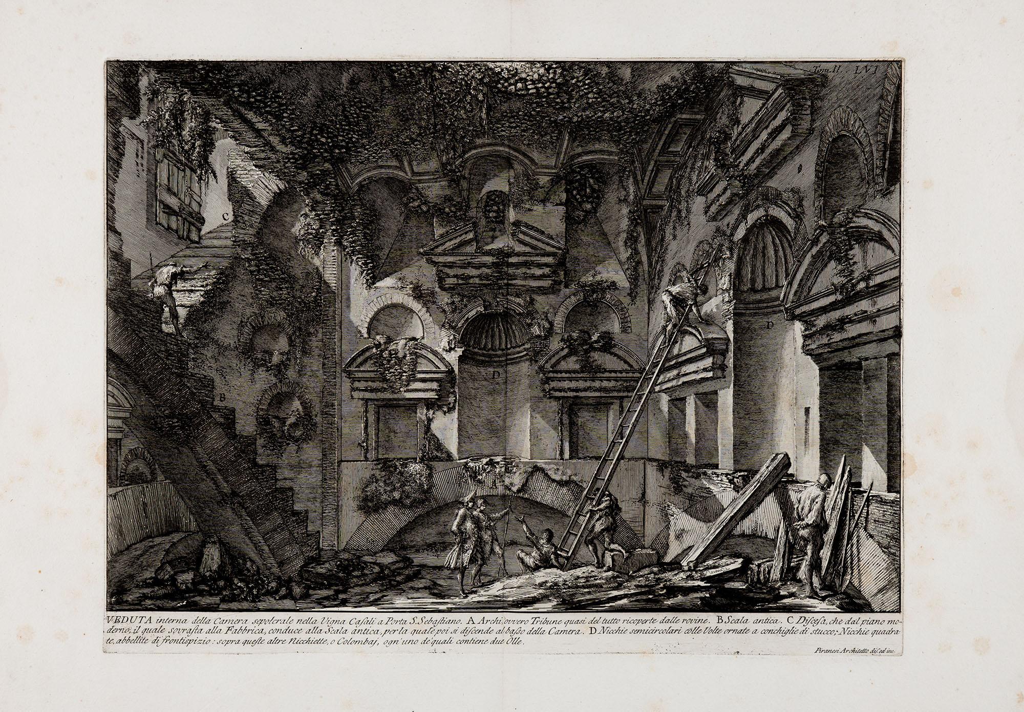 17. Veduta interna della Camera sepolcrale nella Vigna Casali a Porta S. Sebastiano