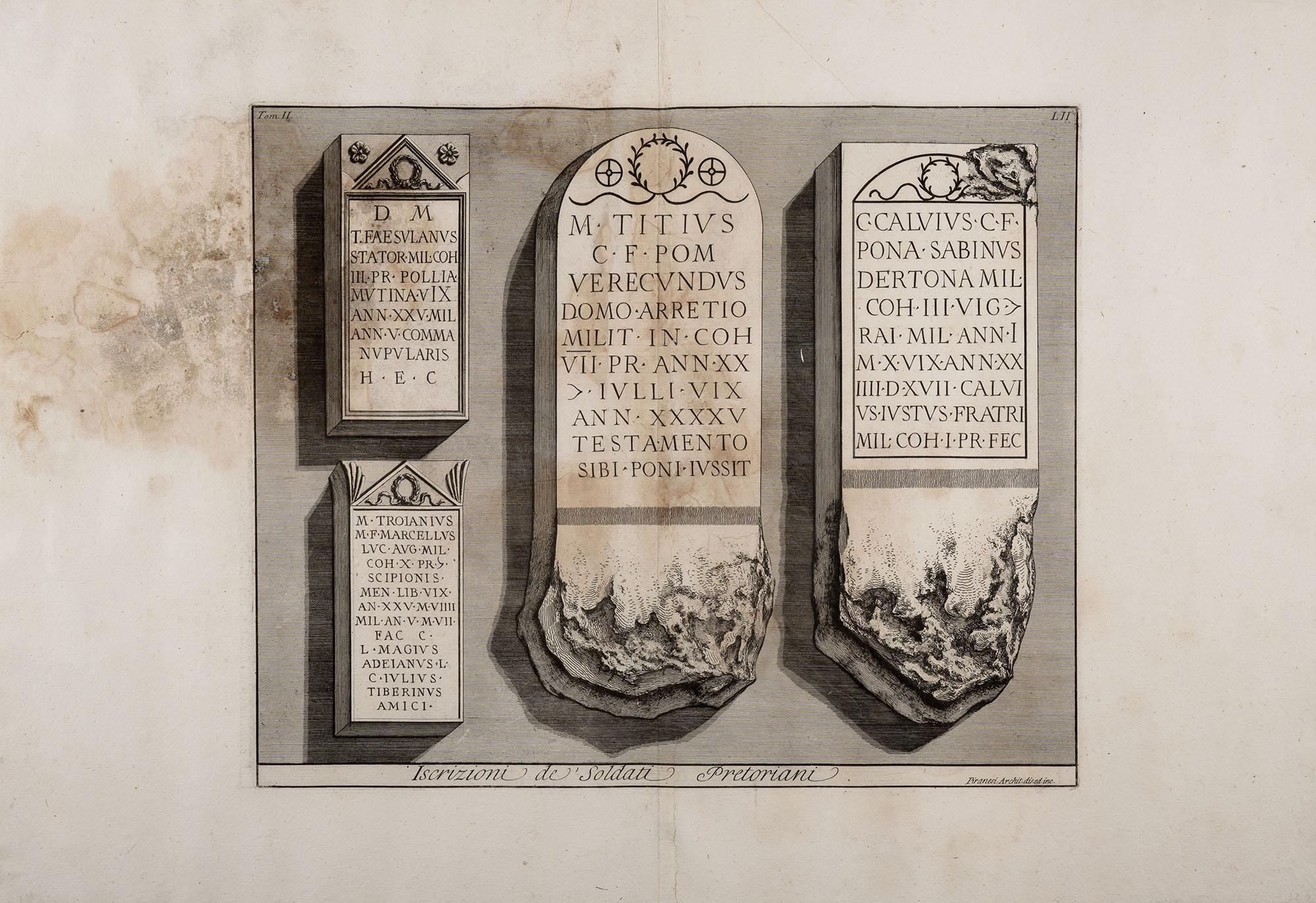 18. Iscrizioni de' Soldati Pretoriani