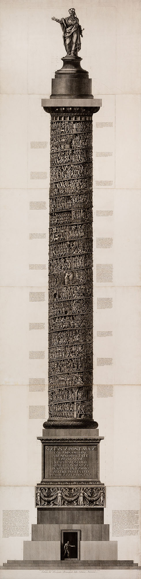 20. Veduta del prospetto principale della Colonna Antonina