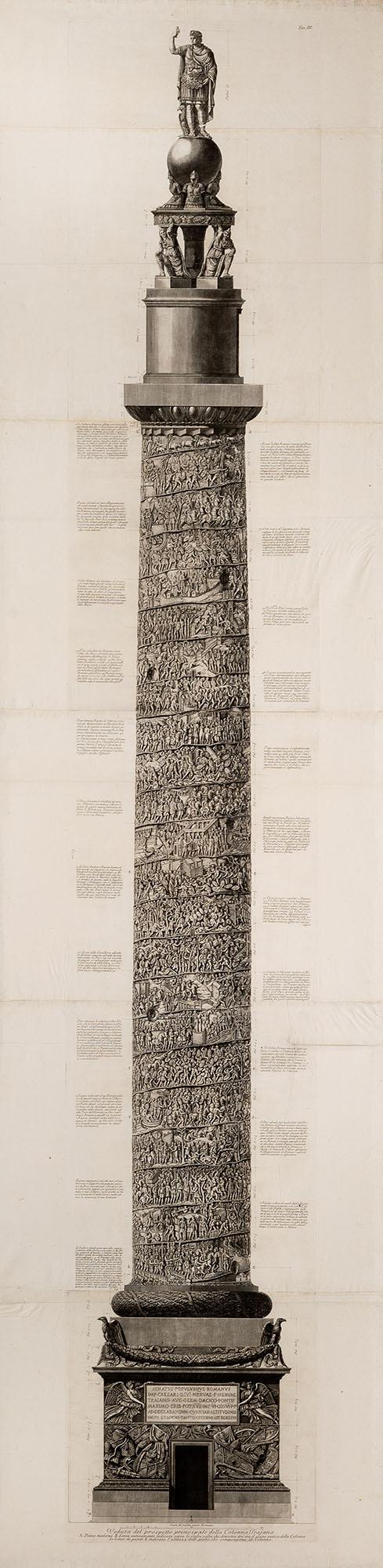 21. Veduta del prospetto principale della Colonna Trajana