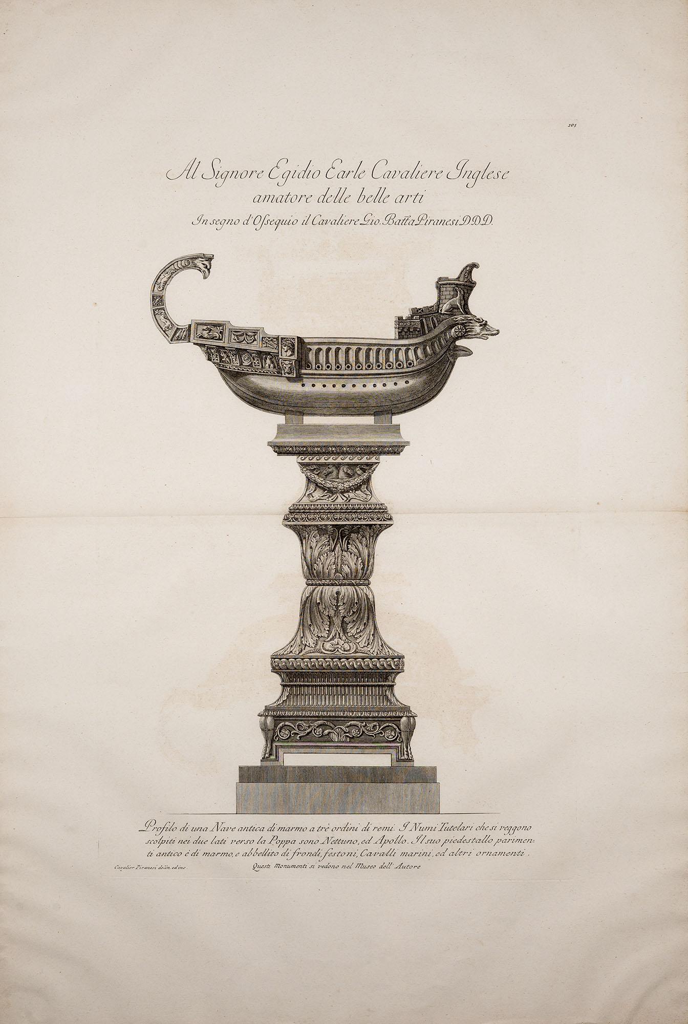 23. Profilo di una Nave antica di marmo