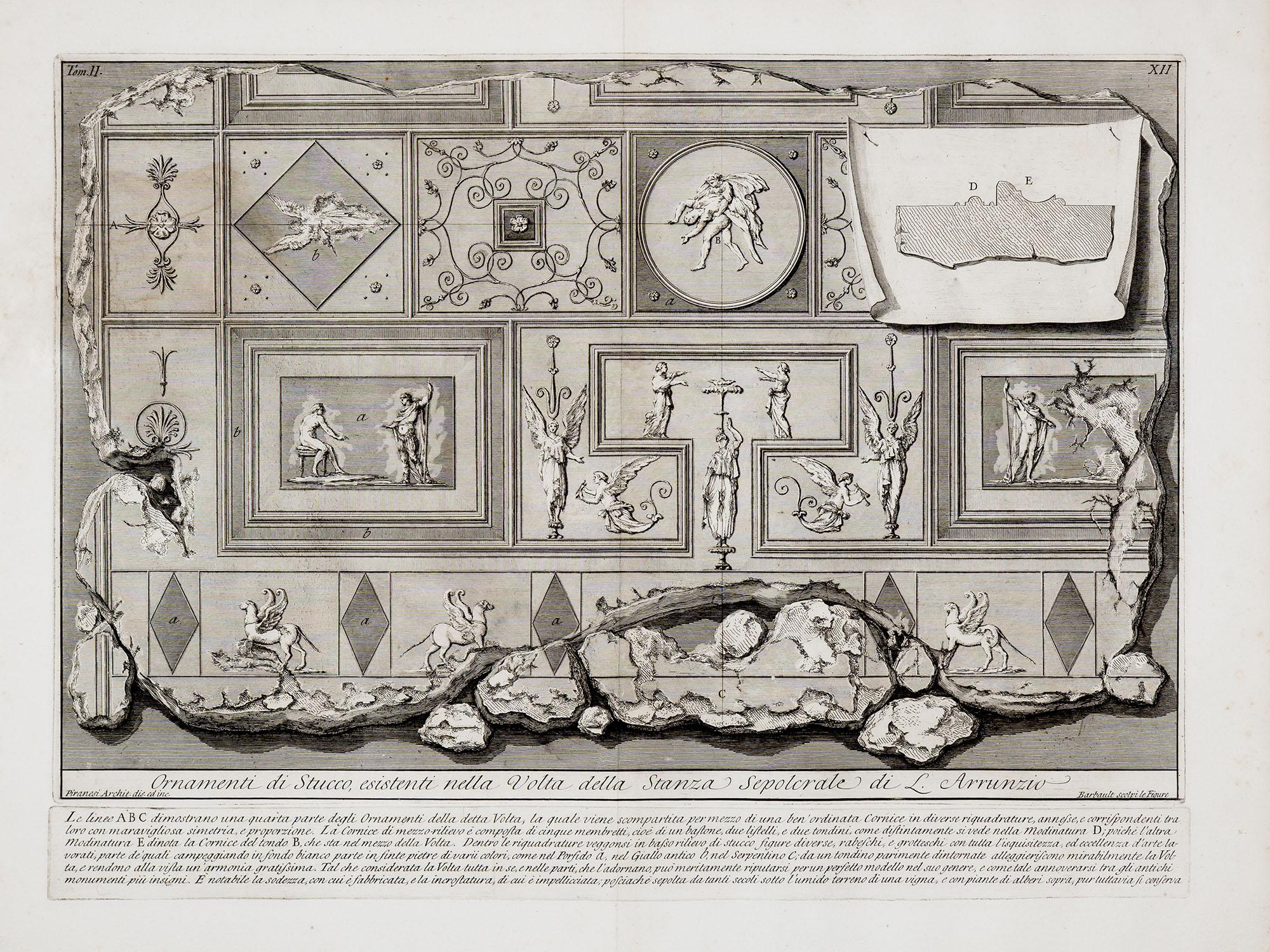 35. Ornamenti di stucco esistenti nella Volta della Stanza Sepolcrale di L. Arrunzio