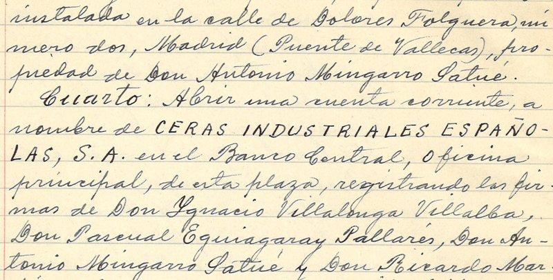 Ceras Industriales Españolas